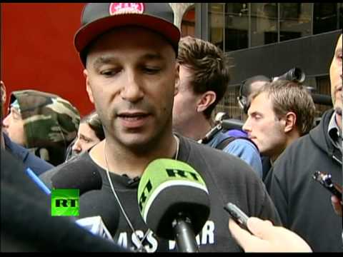 Tom Morello at OWS: Interview & concert in Zuccotti Park