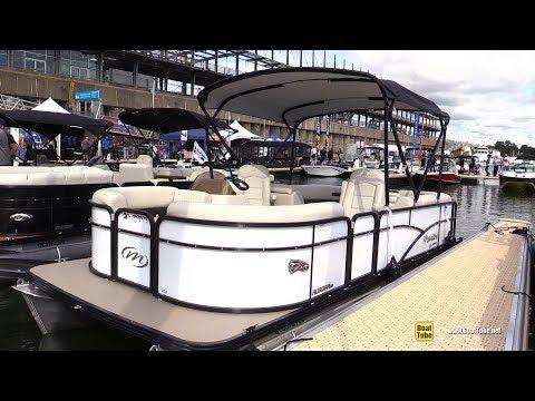 2017 Manitou 200 Aurora LE Pontoon - Walkaround - 2017 Montreal In Water Boat Show