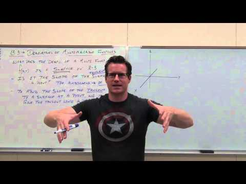 Calculus 3 Lecture 13.3:  Partial Derivatives (Derivatives Of Multivariable Functions)