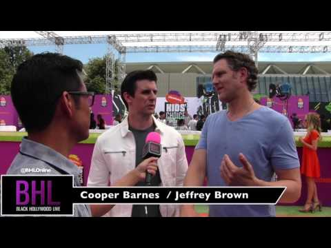 Cooper Barnes and Jeffrey Brown at the Nickelodeon Kids' Choice Sports 2017