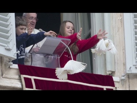 Pope Francis' peace doves attacked