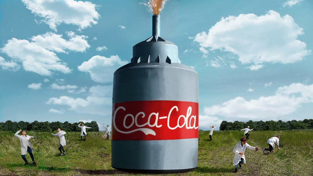 10 000 LITERS COCA-COLA VS MENTOS