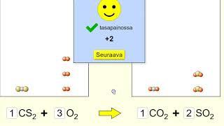 Kemia (7): Kappale 10 extra: Reaktioyhtälön tasapainottaminen