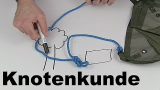 "Knotenkunde - Ergänzung zum Video ""Tarp Aufbau"" | Wanderfalke"