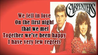 Download Minus One - Love Me For What I Am - CARPENTERS MP3 song and Music Video