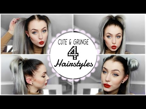 Grunge & Cute Hairstyle's, Quick Easy | Evelina Forsell
