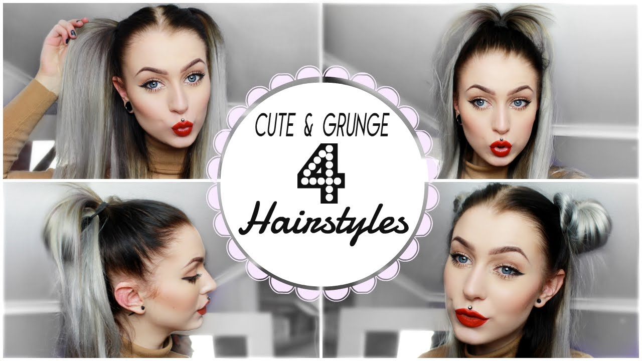 Grunge & Cute Hairstyle's Quick Easy Evelina Forsell YouTube