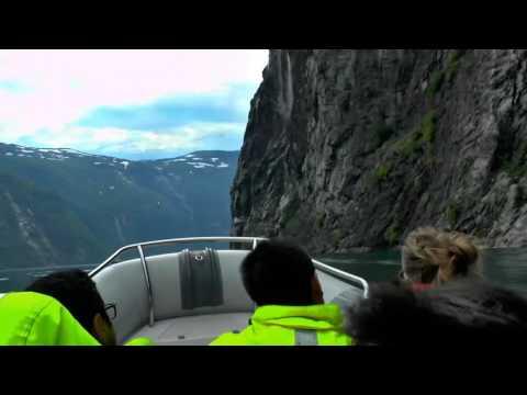 RIB boat ride Geiranger fjord 2014