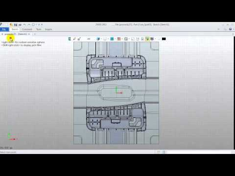 Mold tutorial for ZW3D 2013 - 2. Create slide and lifter
