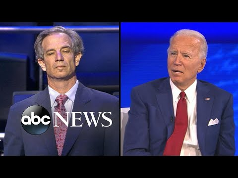 Joe Biden discusses President Donald Trump's foreign policy l ABC News Town Hall WATCH THE FULL TOWN HALL: bit.ly/3lLH06K .We find ourselves in a position where we're more isolated in the world than we ever have been,. Joe ..., From YouTubeVideos