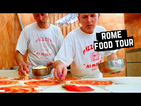 ROME FOOD TOUR | Best ROMAN FOOD | STREET FOOD IN ITALY- SUCCULENT Porchetta + best PASTA in ROMA