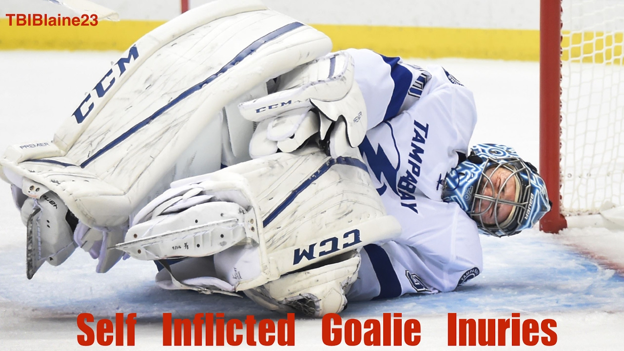 Self Inflicted Goalie Injuries Youtube