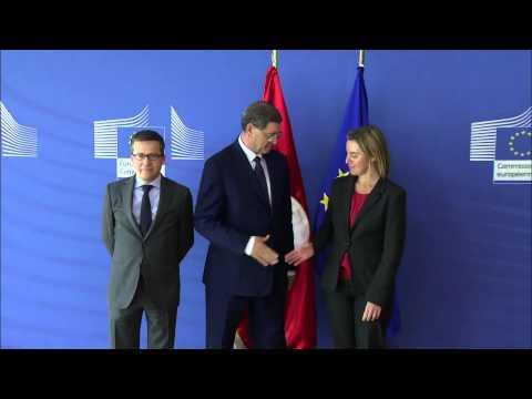 HRVP meets Tunisian Prime Minister, Habib ESSID