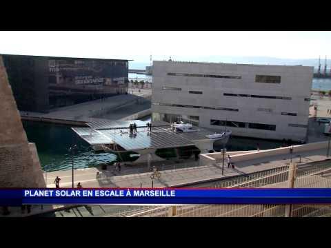 Planet Solar jette l'ancre à Marseille