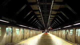 IND Subway: Double R160 (E) Trains at Van Wyck Expwy