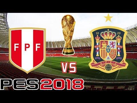 PES 2018 - FINAL COPA MUNDIAL / PERÚ VS ESPAÑA
