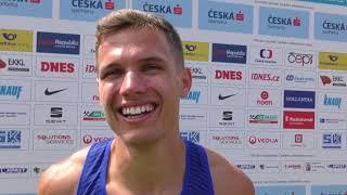 Jan Jirka po 200 m na MČR 2018