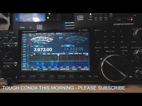Ham Radio Breakfast Club Net Streamed With Icom 7610 - NC WØGUS