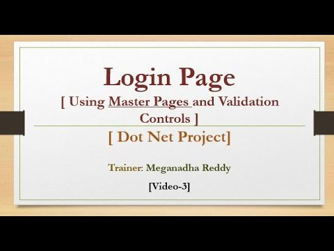 3  Dot Net Project Login Page