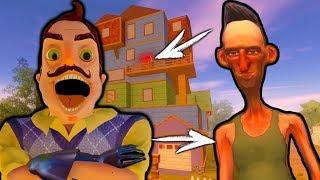- Новый Злой сосед какие тайны он от нас скрывает веселый детский летсплей в игре Angry Neighbor