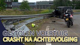 Gestolen voertuig crasht na achtervolging op de A2  Politievlogger  Team Lekpoort !!!
