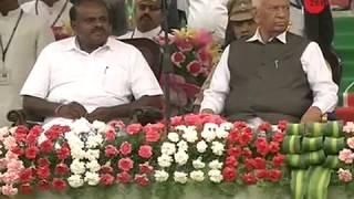 HD Kumaraswamy takes oath as Karnataka CM, opposition leaders present in show of strength