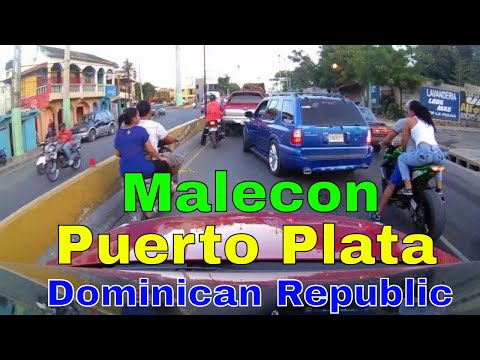 Driving Downtown - Malecon - Puerto Plata  -  Dominican Republic