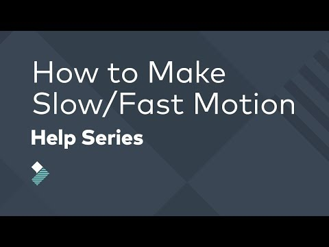 Fast/Slow Motion Video Effects | Filmora Tutorial
