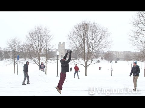 Snow day in Blacksburg - Virginia Tech