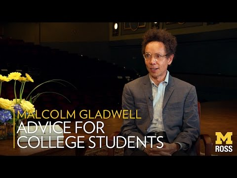 Tips for Success From Malcolm Gladwell - Michigan Ross School of Business