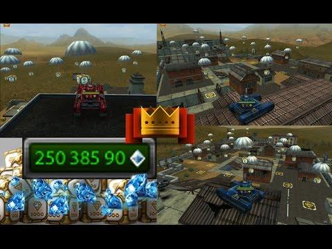 Tanki Online +150 Gold Box Rain - 250M Crystals Buying Everything (Test Server)