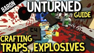 Unturned Crafting Guide - Traps, Explosives, MOAB, Mines! Survival Crafting Guide Part 2