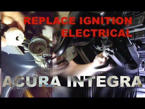 Replace Ignition Switch  Ignition Electrical Acura Integra - YouTube
