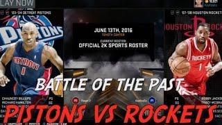 Friday Rivalry, Blast From The Past, Pistons vs Rockets!