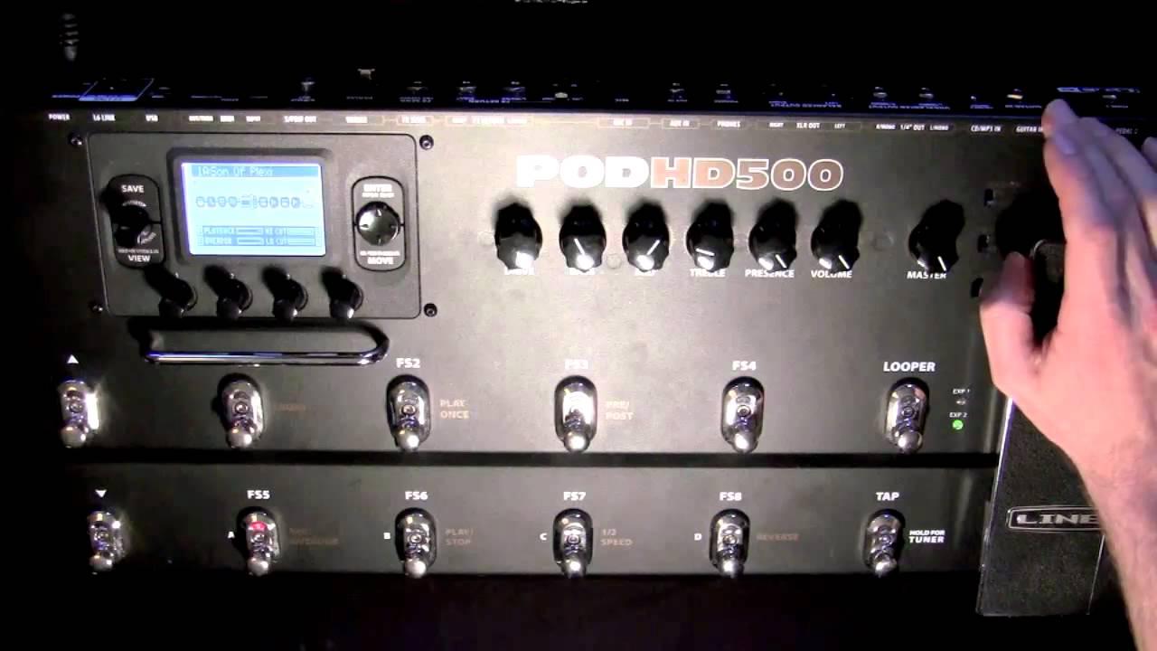 Line6 pod hd500 looper demo youtube.