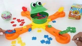 TotoyKids jugando al Señor Bocón por muñecas L.O.L. y Emojis niños contra niñas!!!