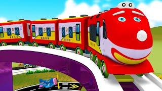 Rainbow Village Toy Train Cartoon - Toy Factory Choo Choo Train show