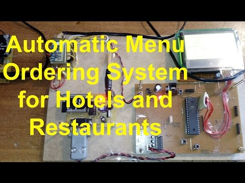 Automatic Menu Ordering System for Hotels and Restaurants