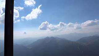 イタリア世界自然遺産、 ロッサ山頂より撮影.