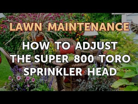 How To Adjust The Super 800 Toro Sprinkler Head