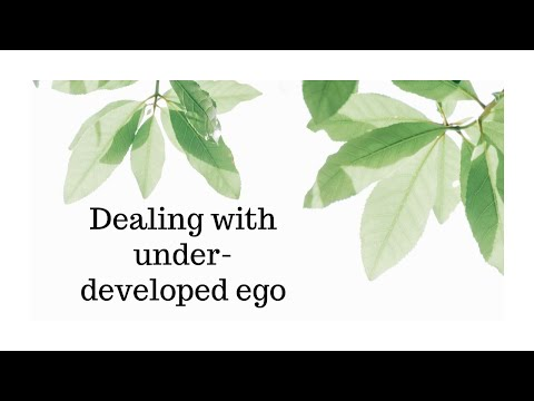 How to recognize an under developed ego and how to work with it