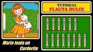 Maria tenia un corderito en Flauta