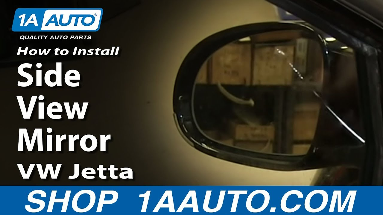 How To install Replace Side rear View Mirror 200510 Volkswagen VW Jetta  YouTube