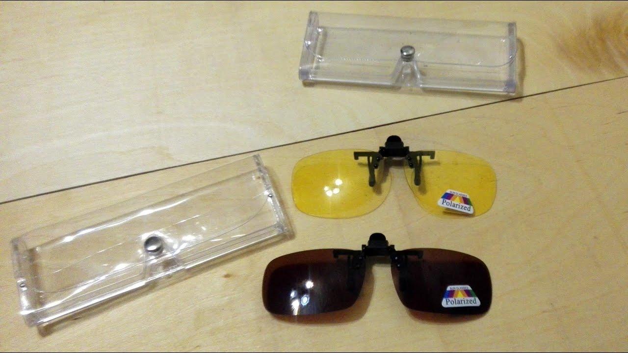 поляризационные клипсы на очки для рыбалки