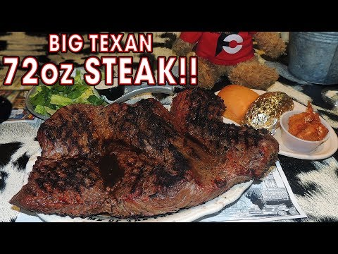BIG TEXAN 72oz STEAK CHALLENGE!!
