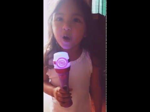 Zoe singing Doc mcstuffins theme song