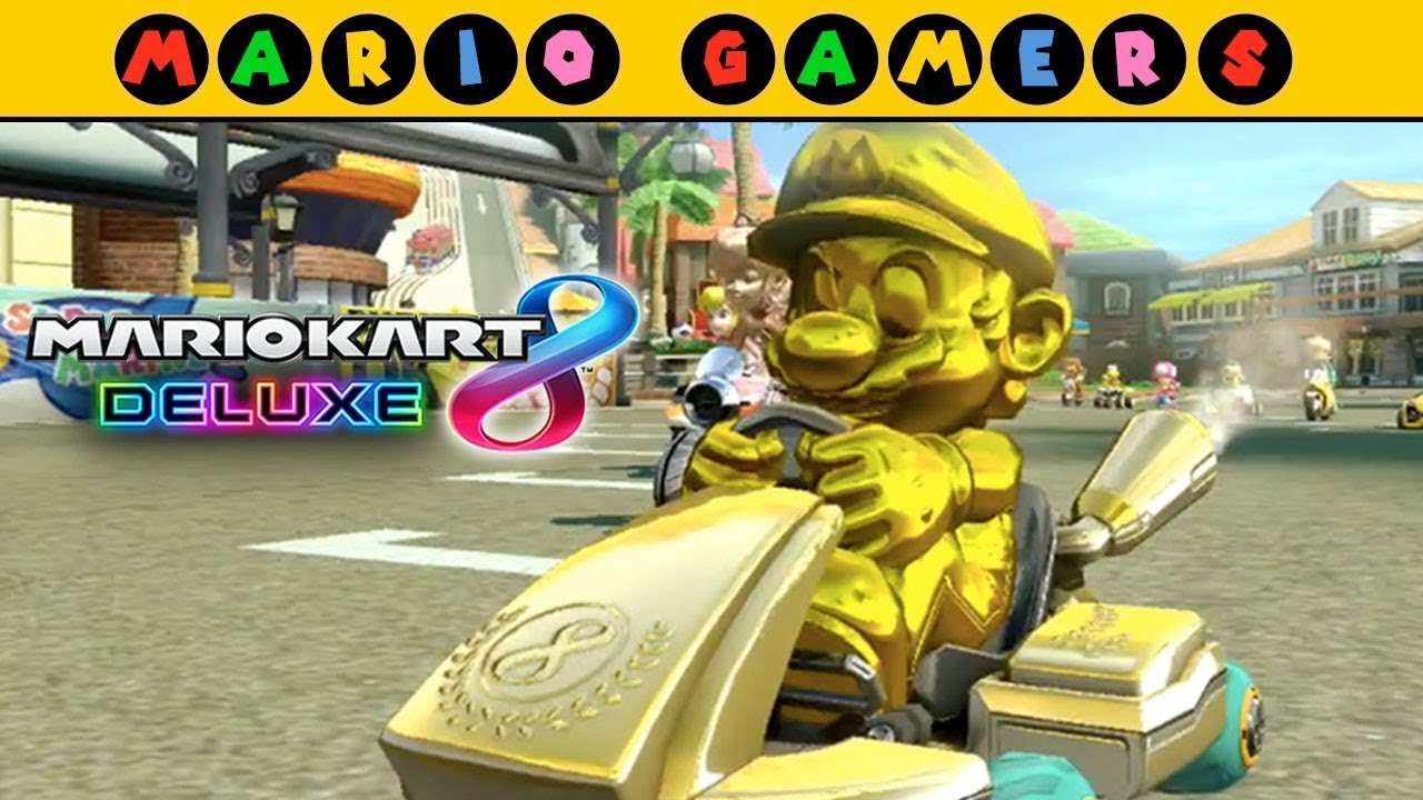 mario kart 8 deluxe flower cup 200cc grand prix mode gold mario gameplay mariogamers. Black Bedroom Furniture Sets. Home Design Ideas