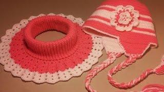 Манишка и шапочка крючком.Часть №2 Начало вязания шапочки
