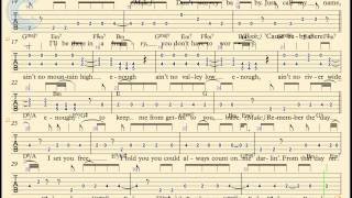 Guitar - Ain't No Mountain High Enough - Diana Ross - Sheet Music, Chords, & Vocals