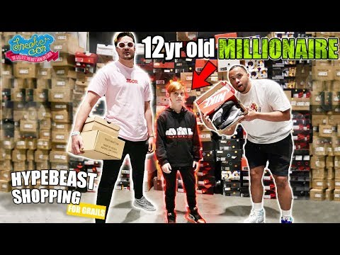 12-Year-Old Millionaire Goes Hypebeast Shopping at Sneakercon